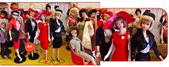 SISTER SWAP! (ModBarbieLover) Tags: american girl barbie 1966 longhair doll vintage fashion mattel black satin pak red fuchsia shop toy 1960s