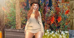 ♚ #795 ♚ (Caity Saint) Tags: salt tableauvivant empowered backdrop pose redhead posefair collabor88 c88 belleevent event sweater autumn gacha sl secondlife pixels avatar maitreya ak akeruka doll av bento
