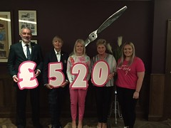 Pink Day Open Cheque Presentation