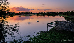 Flooded Lechlade (Chris Cherrington) Tags: landscape photography river sunset wallpaper