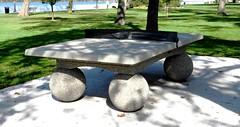 Concrete Ping Pong Table, Coventry Gardens, Windsor, Ontario (Joseph Hollick) Tags: windsor ontario coventrygardens sport pingpong