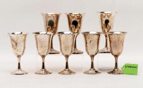 8 Priesner #214 goblets ($672.00)