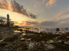 In the evening by the sea (Elena Lebedeva) Tags: gulfoffinland russia beach clouds evening landscape lighthouse nature outdoors shore sunset waterscape ngc