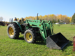 John Deere 5500 Utility Tractor (Gerald (Wayne) Prout) Tags: johndeere5500utilitytractor johndeere 5500 utility tractor elmershideout taylortownship blackrivermatheson northeasternontario northernontario ontario canada prout geraldwayneprout canon canonpowershotsx60hs powershot sx60 hs digital camera photographed photography vehicle agriculture farming farm construction equipment antique historical old machinery elmer elmercook hideout taylor township blackriver matheson northeastern northern anthony