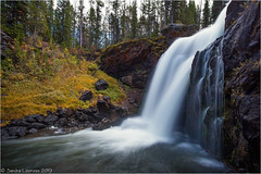 Moose Falls (Sandra Lipproß) Tags: waterfall moosefalls yellowstone nationalpark wyoming nature landscape outdoor slowwater softwater longtimeexposure usa travel fall autumn wasserfall langzeitbelichtung landschaft