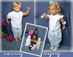 Luis und Bärbel / Luis and Bärbel (ursula.valtiner) Tags: puppe doll luis bärbel künstlerpuppe masterpiecedoll meditation qigong