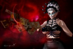 IT'S IN THE CARDS (Rachel Swallows Inworld Elenamicheals Core) Tags: blind accessories bloody avenge roses halloween fashion dayofthedead skulls makeup fortune scars saltandpepper santamuerte c88 tarotcards redeux pkc thesummoning witch
