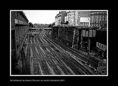 Rails (Pollini Photo Laboratory) Tags: marcopollini polliniphotolabcom fotografiaurbana streetphotography leica leicamp summarit 35mm blackwhite bianconero monocrome paris parigi france