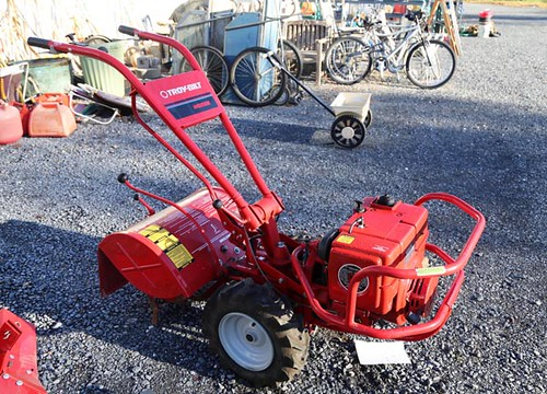 Like new Troy-Bilt Horse rear tire tiller with 8hp Kohler engine ($336.00)