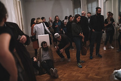 God's Entertainment: Ispod tepiha / Under the Carpet (Drugo More Rijeka) Tags: zoom zoomfestival 2019 godsentertainment performance art installation exhibition carpet rug nationalism croatia coatofarms flag