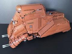 MTT - Multi Troop Transport (Just Bricking) Tags: lego legostarwars star wars starwars thephantommenace starwarsepisode1 starwarslego ships vehicles mtt multitrooptransport minifigscale moc brown