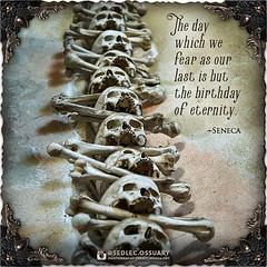 """The day which we fear as our last is but the birthday of eternity."" -Seneca .  ☩💀 Click link in BIO for our current Kickstarter. 💀☩ ☩💀 Mailing list: https://ift.tt/2lTYHHU 💀☩ . . . . . . #SedlecOssuaryProject #SedlecOssuary #Sedle (Sedlec Ossuary Project) Tags: sedlecossuaryproject sedlec ossuary project sedlecossuary kostnice kutnahora kutna hora prague czechrepublic czech republic czechia churchofbones church bones skeleton skulls humanbones human mementomori memento mori creepy travel macabre death dark historical architecture historicpreservation historic preservation landmark explore unusual mechanicalwhispers mechanical whispers instagram ifttt"