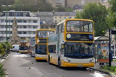 Open Top Trio (Better Living Through Chemistry37) Tags: route122 17701 ml02rwo 18307 18305 wa05mhe hop122 alexander alx400 dennis dennistrident harbourside strand buses stagecoach stagecoachdevon transport transportation opentopbuses ssw