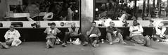 Lunch Line (Joe Josephs: 3,166,284 views - thank you) Tags: manhattan nyc newyorkcity travelphotography photojournalism street streetphotography bluecollar bluecollarworkers workers eating food lunch travel iphone7plus iphonephotography joejosephsphotography bw monochrome blackandwhite