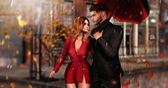 Hide me in the rain (meriluu17) Tags: amitie rain rainy couple love them hidding hide wet drops people autumn fall cute red
