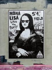 Mona Lisa (J Wells S) Tags: monalisa wallart streetart urban urbandecay overtherhine otr cincinnati ohio poster blinkcincinnati