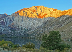 Sunrise on Mount Morrison, Convict Lake, CA 10-19 (inkknife_2000 (11 million views)) Tags: california usa sunrise landscapes stillwater mountainlake convictlake reflectiononwater easternsierranevada sunrisereflections dgrahamphoto mountains rocks serenity peaks morningcalm morrisonpeak