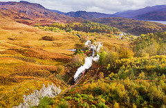 Autumn in the Highlands - The Jacobite in Borrodale (inspiring.images) Tags: borrodale jacobite wcrc west coast highlands harry potter black five 45407 lms autumn golden