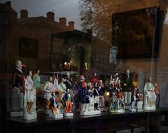 Harrogate: figures in antique shop window (Allan Rostron) Tags: shops windows harrogate antiques