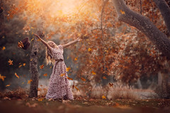 Fall Joy ({jessica drossin}) Tags: autumn fall leaves photography leaf naturallight jessicadrossin trees nature girl grass childhood fun happy belt pretty seasons dress joy actions overlays wwwjessicadrossincom