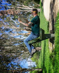 43 of 52 Weeks (Lyndon (NZ)) Tags: week432019 startingtuesdayoctober222019 52weeksthe2019edition selfportrait perspective sony ilce7m2 henleylake people outdoors bench park