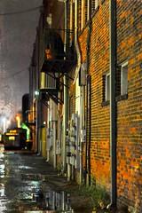 Savannah Alley At Night (paulgarf53) Tags: savannah georgia cityscape city south southern alley bricks topaz topazstudio2 nikon d700
