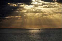 Morning Light   Blanes, Catalonia (Flemming J. Gade) Tags: sus sunshine spotsofsunshine rays sky clouds mediterranean sea blanes