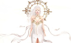 Angelic (EnviouSLAY) Tags: white angel angelic gold ribbons dress heavenly aura magic halloween astral clouds sky gacha rare newreleases new releases doux letre genus classic bento violentseduction violent seduction randommatter random matter choker belt theepiphany the epiphany gachaevent gachafair gachafashion event fair fashion pale female male gay lgbt blogger secondlife second life photography