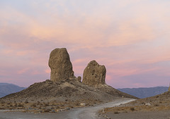 Tufa Sunset (magnetic_red) Tags: tufas pinnacles trona sunset clouds pink sky nopeople road trail beautyinnature