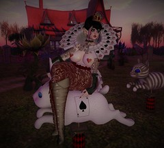 queen of hearts (delicioustattoos) Tags: curvy chubby cute catwa cosplay fika aliceinwomderland queenofhearts bbw bootysbeauty belleza yokai cureless violentseduction veechi warpaint mandala tlg truthhair nomatch anatomy ravemoon peachy blackburns revoul soapberry