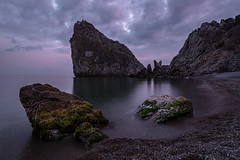 Beach Landscape (gubanov77) Tags: crimea simeiz nature sea mountains sunset dusk twilight nightfall blacksea tourism nationalgeographic travelphotography travel landscape beach afterglow