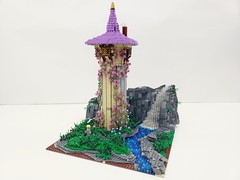 Rapunzel's Tower   Built for my soon to be 8 year old daughter.  Follow me on Instagram here: https://www.instagram.com/lego.scape.sculpture/ (ben_pitchford) Tags: legodisneymoviesrapunzelstowerdisneytangleddisneyfanafollegocustomlegolifelegophotographybricknetwork