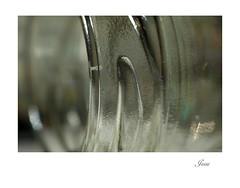 Glass Bottle #1 (jesse1dog) Tags: meyeroptikgorlitz trioplan2950mm tabletop capers bottle glass mottled thread ridges screwthread top panasonicgm1 vintageprime bokeh minimal alone macro extensiontubes