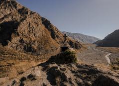 Cross (E-C-K ART) Tags: kazbegi georgia mountain mountains view landscape scenery sand rocky cross pilgrim spot sun caucasus