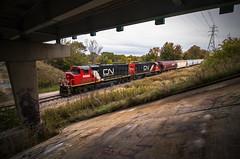 Hummin' Humko (Seven Tracks Photography) Tags: canadiannational champaignsubdivision champaign bondville seymour plastipak gp402w gp382 railroad train locomotive outdoor photography manifest mixedfreight local emd gtw cn9566