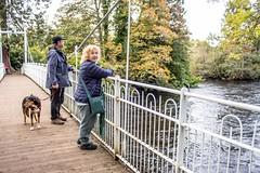 Inverness_river_walk_8764-2 (allybeag) Tags: inverness bridge footbridge river riverness walk woods forest cathy kiri littlesteve