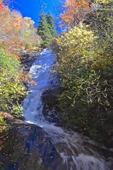 Wildcat Falls (esywlkr) Tags: landscape waterfall cascade wildcatfalls nature fall autumn water pisgahnationalforest flatlaureltrail