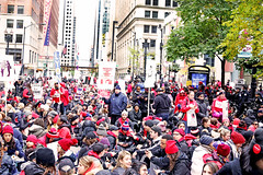 Chicago Teachers Sit in For Social Justice, Taking Over Downtown Chicago (kirstiecat) Tags: sitin protest progressive liberal teachers ctu chicagoteachersunion chicago downtown loop canon people democracy strike lorilightfoot
