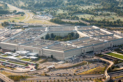 Pentagon (Thomas Hawk) Tags: america dc districtofcolumbia pentagon usa unitedstates unitedstatesdepartmentofdefense unitedstatesofamerica virginia washingtondc aerial architecture fav10 fav25 fav50
