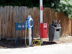 Correct tire pressure (Collingwood Historical Society) Tags: cf19 pressure petrolstation abbotsford