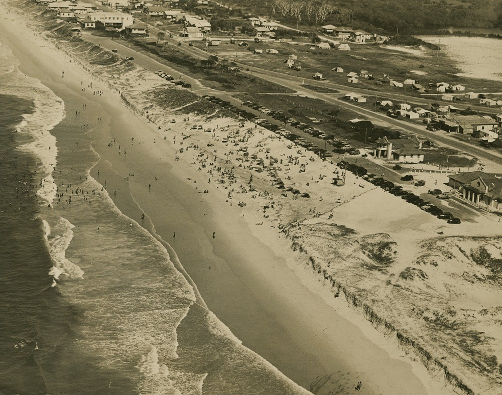 Aerial view of Southport beach Gold Coast Queensland