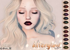 WarPaint* @ Uber - Afterglow lip collection (Mafalda Hienrichs) Tags: warpaint war paint uber event new release lipstick afterglow lip collection lipgloss cosmetic applier secondlife genus project catwa lelutka omega bakesonmesh bom ombre
