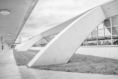 Charles B. Wheeler Downtown Airport Building (jolynne_martinez) Tags: kansascity mo unitedstatesofamerica charlesbwheelerdowntownairport downtownairport airport terminal building architecture arch arches flickrfriday bw blackandwhite nikkor nikon nikond60 utata:project=tw705