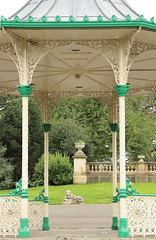 Flickr Friday - Arches.   The bandstand at Leazes Park, Newcastle upon Tyne   IMG_0182 (alisonhalliday) Tags: flickrfriday arches park bandstand lion green grass canoneosrp canonefs18135mm victorian cmwdgreen cmwd colorfulworld