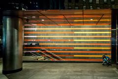 Homeless  (1 of 1) (e.tommmy) Tags: nyc newyork homeless orange lost subway street night yellow lights sidewalk
