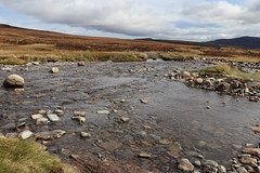 River Crossing (steve_whitmarsh (touring 3 weeks in India)) Tags: aberdeenshire scotland scottishhighlands highlands cairngorms landscape water river rocks mountain hills glengeldie topic