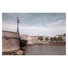 Haven Bridge (John Pettigrew) Tags: topographics tamron d750 imanoot banal river exposure long ordinary architecture streetlamp nikon bridge johnpettigrew mundane