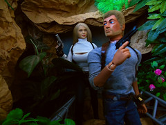 Conitinuing on..., (Blondeactionman) Tags: bamhq bamcomix one six scale doll phicen actionman action figure dinosaur valley diorama photography agent of bam jenna commander jake playscale