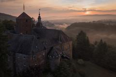 fairyland (Rafael Zenon Wagner) Tags: dji fromabove castle burg nebel fog forest wald germany attendorn sauerland