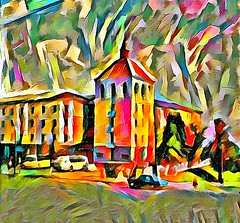 Hotel in Vladimir. Russia (V_Dagaev) Tags: hotel house building town city street art architecture russia digital dynamicautopainter painterly painting painter paintingsfromphotos paint visualdelights vladimir